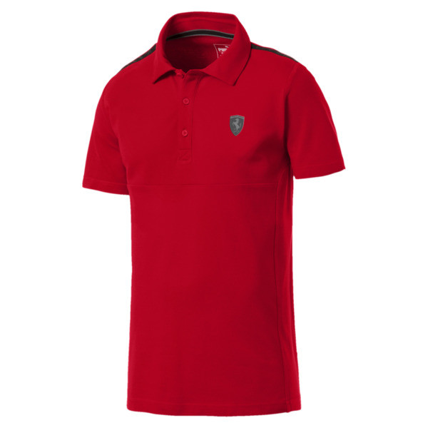 Ferrari Men's Polo Shirt, Rosso Corsa, large
