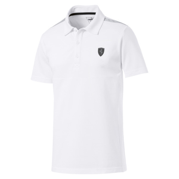 Ferrari Men's Polo Shirt, Puma White, large