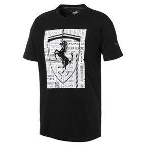 Imagen en miniatura 4 de Camiseta con escudo grande de hombre Ferrari, Puma Black, mediana