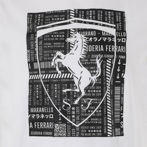Thumbnail 7 of フェラーリ ビッグシールド Tシャツ, Puma White, medium-JPN