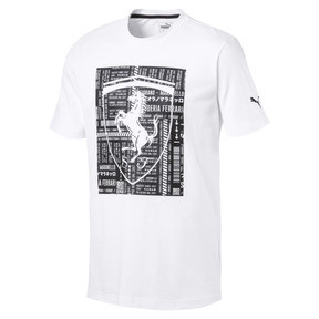 Thumbnail 1 of Ferrari Big Shield Men's Tee, Puma White, medium