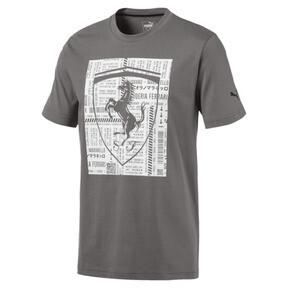 Thumbnail 1 of Ferrari Big Shield Men's Tee, Charcoal Gray, medium