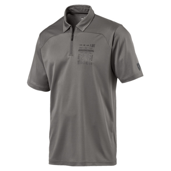 db802bba Scuderia Ferrari Men's Summer Polo | Charcoal Gray | PUMA Polo ...