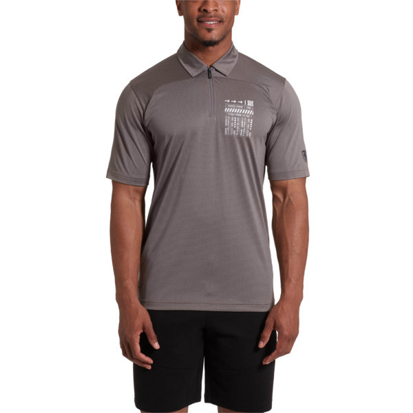 Scuderia Ferrari Men's Summer Polo, Charcoal Gray, large