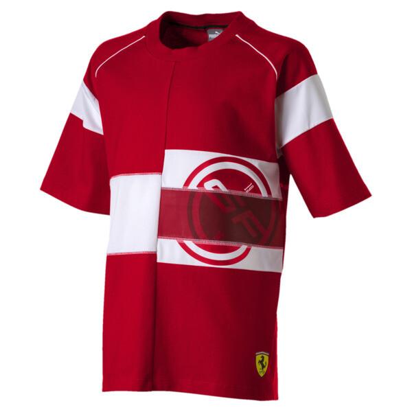 Scuderia Ferrari Boys' Street Tee JR, Rosso Corsa, large