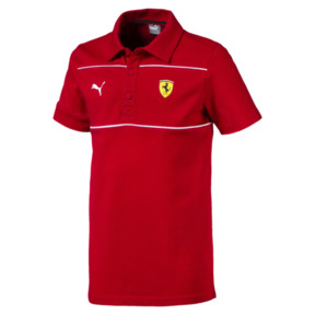 Thumbnail 1 of Scuderia Ferrari Kid's Polo, Rosso Corsa, medium