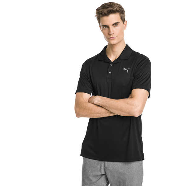 Rotation Men's Golf Polo, Puma Black, large