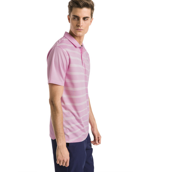 Polo de golf AlterKnit Prismatic pour homme, Pale Pink Heather, large