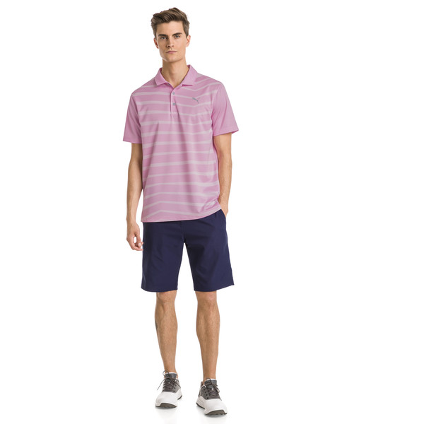 AlterKnit Prismatic Herren Golf Polo, Pale Pink Heather, large