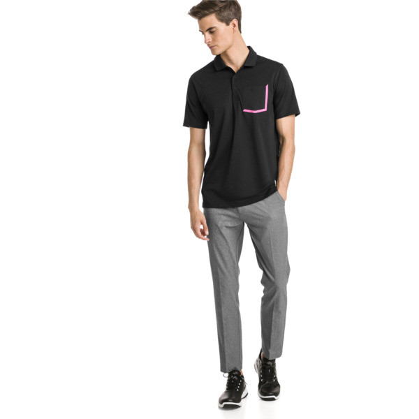 Polo de golf de hombre Faraday, Puma Black, grande