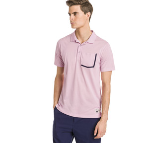 Thumbnail 1 of Faraday Men's Golf Polo, Pale Pink, medium