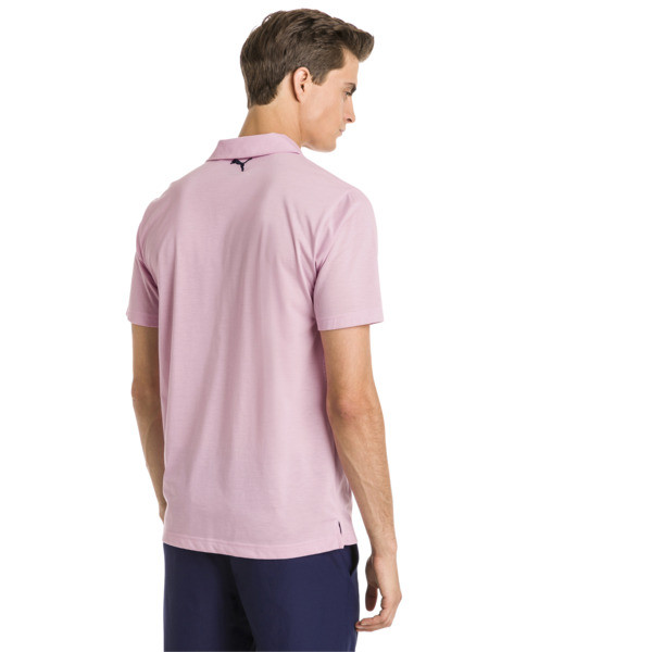 Faraday Men's Golf Polo, Pale Pink, large