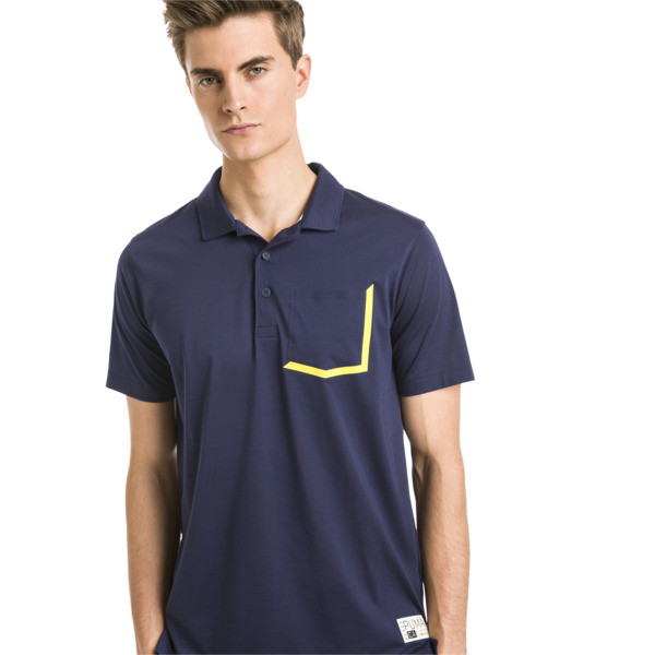 Faraday Men's Golf Polo, Peacoat, large
