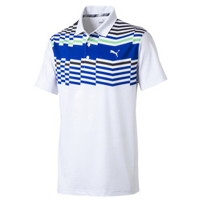 Thumbnail 4 of Road Map Herren Golf Polo, Bright White-Irish Green, medium
