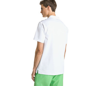 Thumbnail 2 of Road Map Herren Golf Polo, Bright White-Irish Green, medium