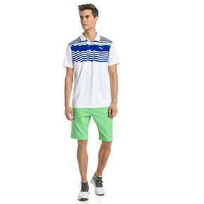 Thumbnail 3 of Road Map Herren Golf Polo, Bright White-Irish Green, medium