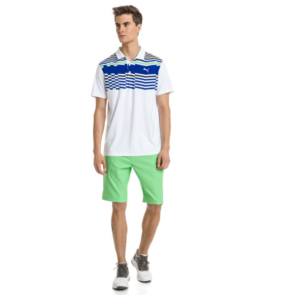 Road Map Herren Golf Polo, Bright White-Irish Green, large