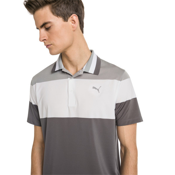 Nineties Men's Golf Polo, Quarry, large