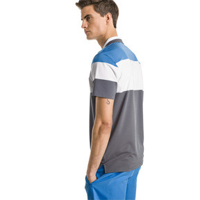 Thumbnail 2 of Nineties Men's Golf Polo, Bleu Azur, medium