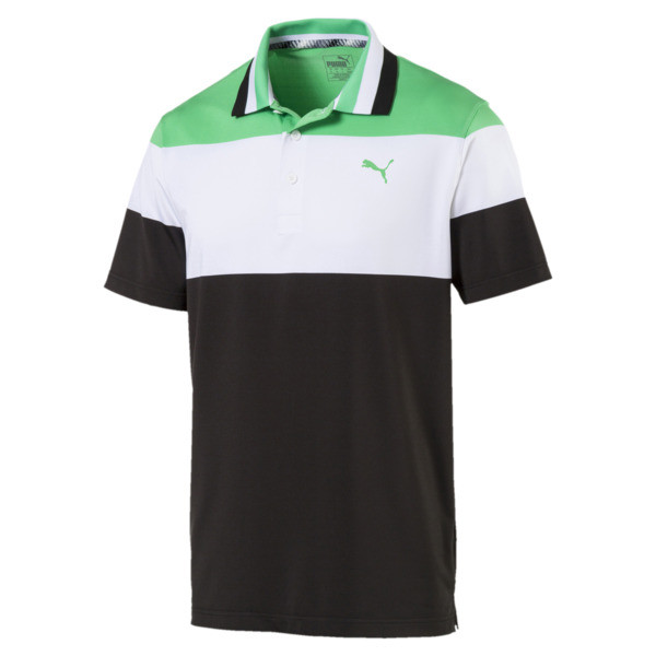 Nineties Men's Golf Polo, Irish Green, large