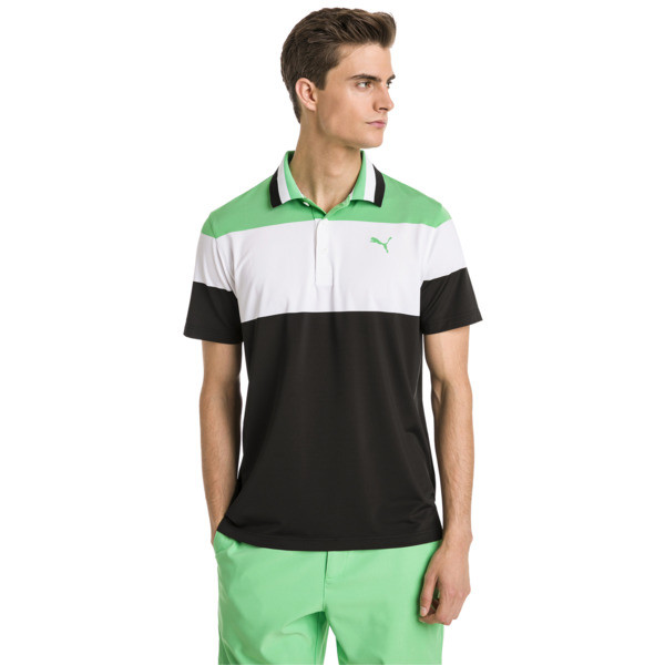 Polo de golf Nineties pour homme, Irish Green, large