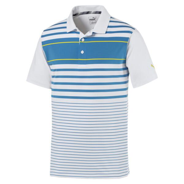 Spotlight Men's Polo, bleu azur-blazing yellow, large