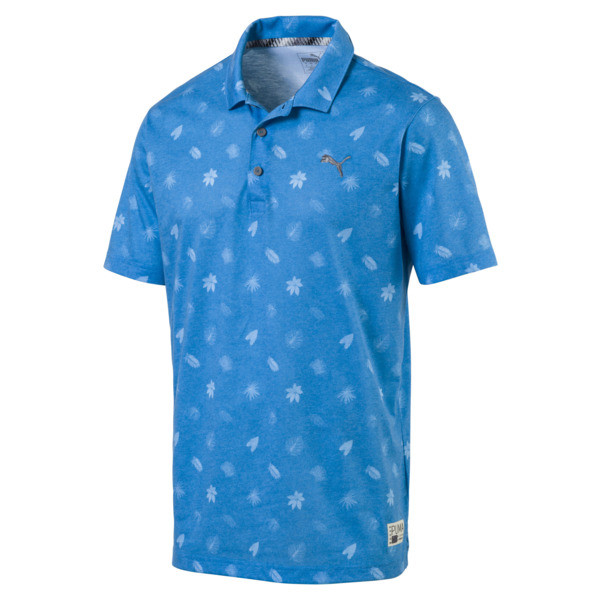 Verdant Herren Golf Polo, Bleu Azur, large