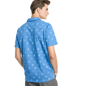 Thumbnail 2 of Verdant Herren Golf Polo, Bleu Azur, medium
