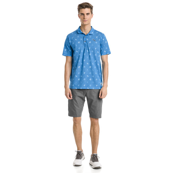 Verdant Men's Golf Polo, Bleu Azur, large