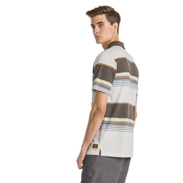 Pipeline Men's Golf Polo, Chocolate Brown, large