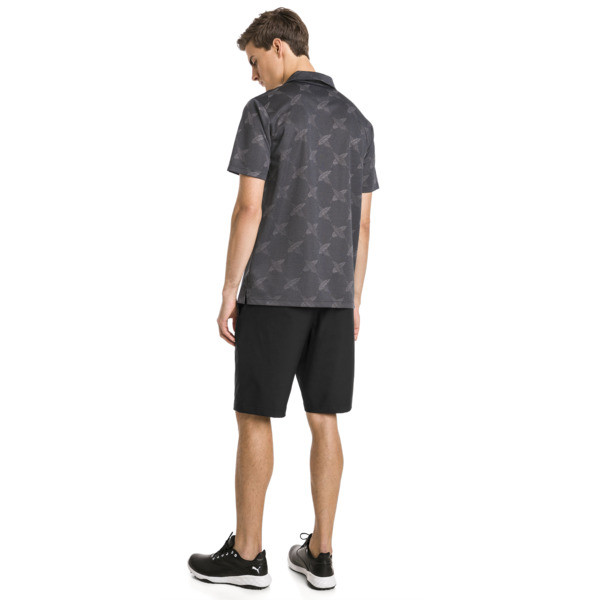 AlterKnit Palms Men's Golf Polo, Puma Black, large