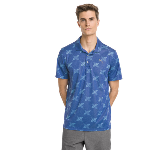 AlterKnit Palms Men's Golf Polo, Surf The Web, large