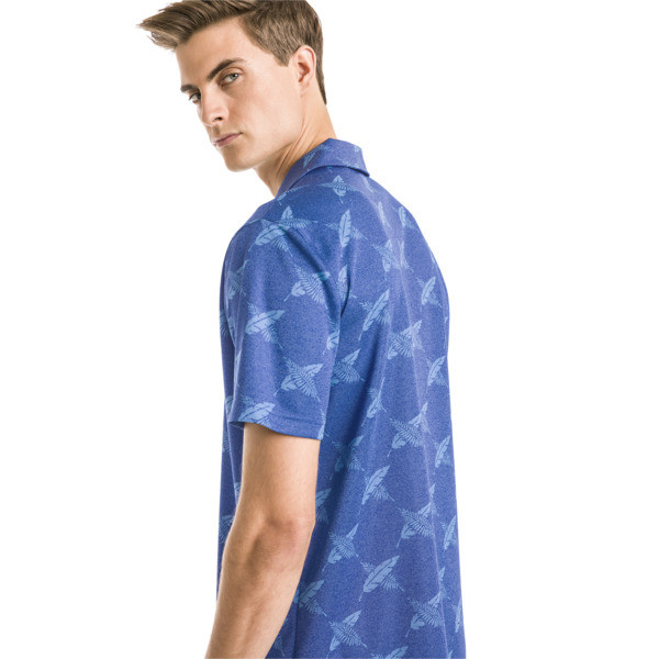 AlterKnit Palms Herren Golf Polo, Surf The Web, large