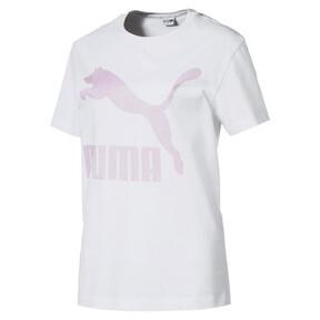 Thumbnail 1 van T-shirt met korte mouwen voor dames, Puma White-OUDROZE, medium