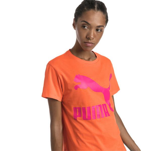 Camiseta Classics con logotipo para mujer, Nasturtium, grande