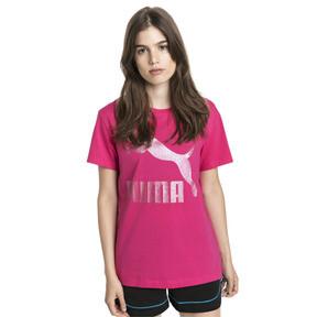 Thumbnail 2 van T-shirt met korte mouwen voor dames, Fuchsiapaars-1, medium