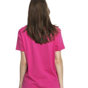 Thumbnail 3 van T-shirt met korte mouwen voor dames, Fuchsiapaars-1, medium