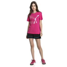 Thumbnail 5 van T-shirt met korte mouwen voor dames, Fuchsiapaars-1, medium