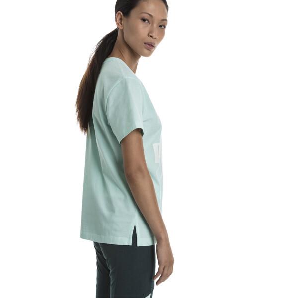 Short Sleeve Women's Tee, Fair Aqua, large