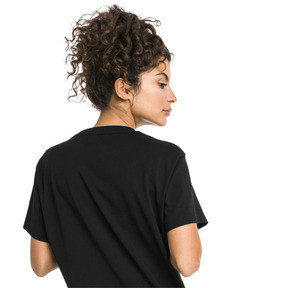 Thumbnail 3 of Classics Damen T-Shirt, Cotton Black-white, medium
