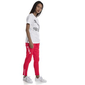 Thumbnail 3 van T-shirt met korte mouwen voor dames, Puma White-Metaal, medium