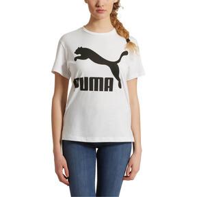 Thumbnail 2 of Classics Women's Logo Tee, Puma White-black, medium