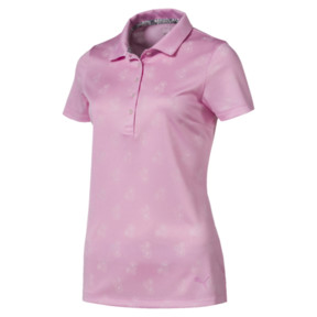 Thumbnail 4 of Burst Into Bloom Damen Golf Polo, Pale Pink, medium