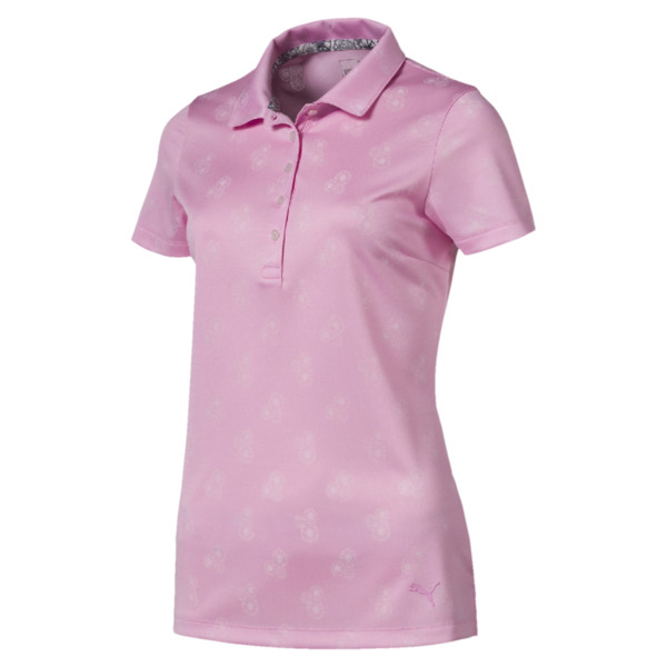 Burst Into Bloom golfpolo voor vrouwen, Bleekroze, large