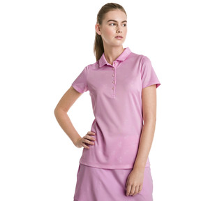 Thumbnail 1 of Burst Into Bloom Damen Golf Polo, Pale Pink, medium