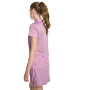 Thumbnail 2 of Burst Into Bloom Damen Golf Polo, Pale Pink, medium