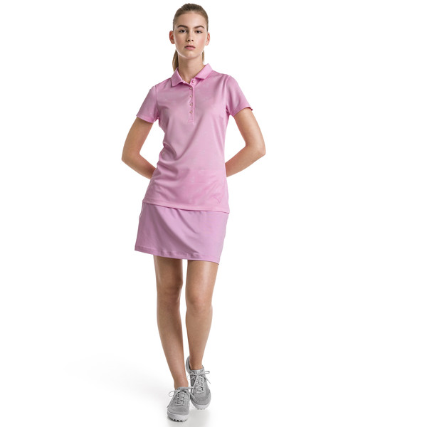 Burst Into Bloom Women's Golf Polo, Pale Pink, large