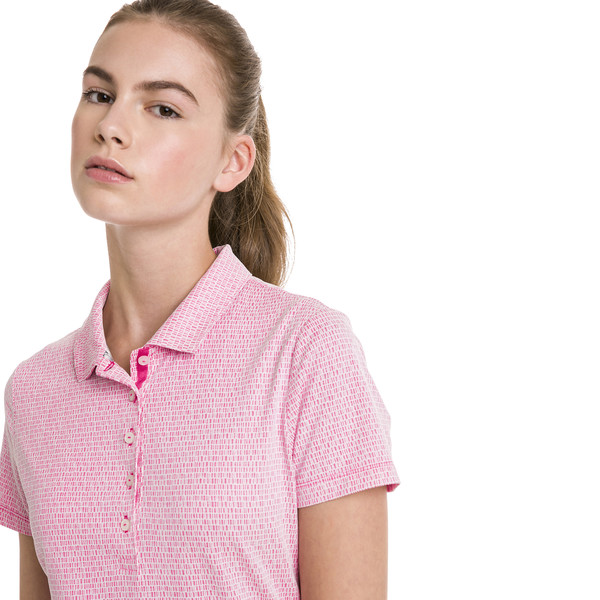 Swift Women's Golf Polo, Fuchsia Purple-Bright White, large