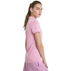 Thumbnail 2 of Swift Women's Golf Polo, Fuchsia Purple-Bright White, medium