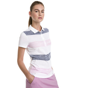 Thumbnail 1 of Race Day Women's Golf Polo, Pale Pink, medium